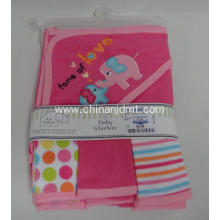 Hooded Towel and  Washing Cloth  Set